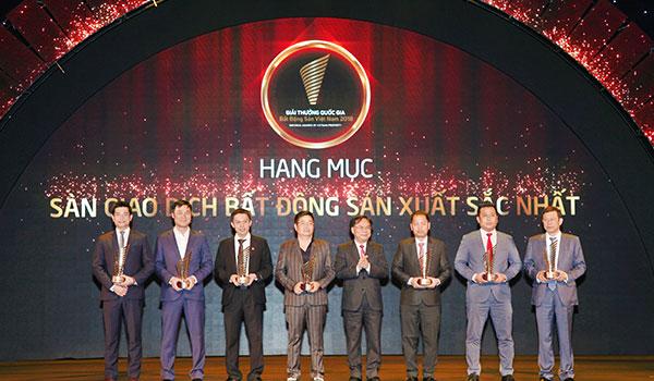 Giải thưởng quốc gia: sàn giao dịch Bất động sản xuất sắc nhất Việt Nam năm 2018