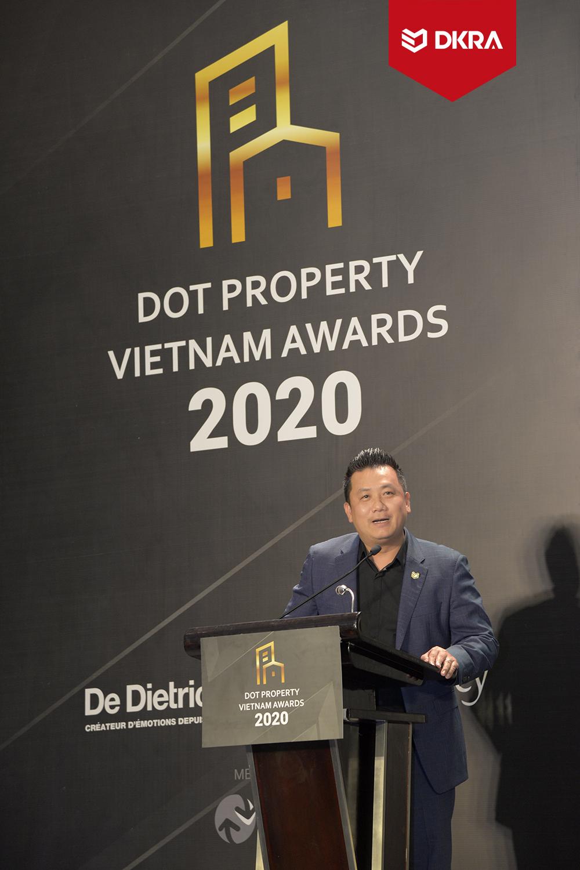 """DKRA VIETNAM GIỮ VỮNG PHONG ĐỘ VÀ BỨT PHÁ VỚI """"CÚ ĐÚP"""" GIẢI THƯỞNG DOT PROPERTY VIETNAM AWARDS 2020"""