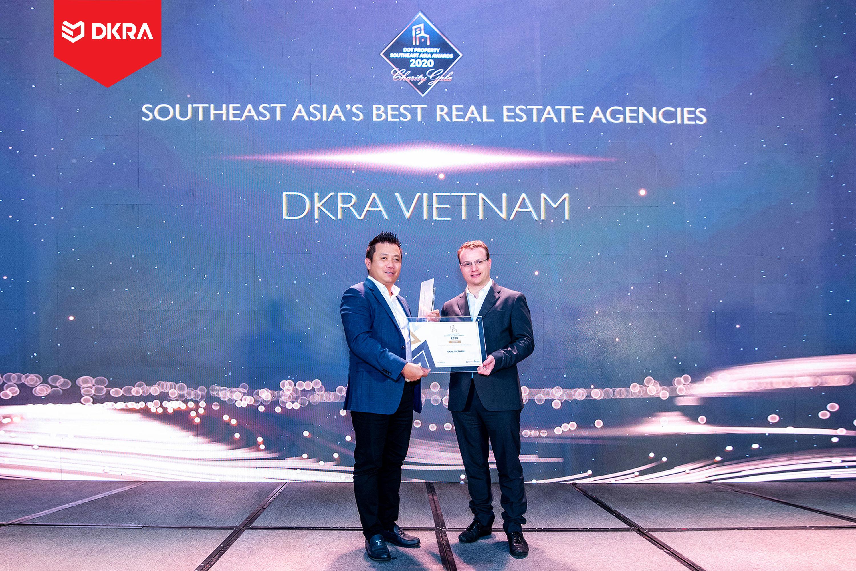"""DKRA Vietnam """"Đơn vị phân phối bất động sản tốt nhất Đông Nam Á"""" do Dot Property Southest Asia Awards trao tặng 2019 và 2020"""