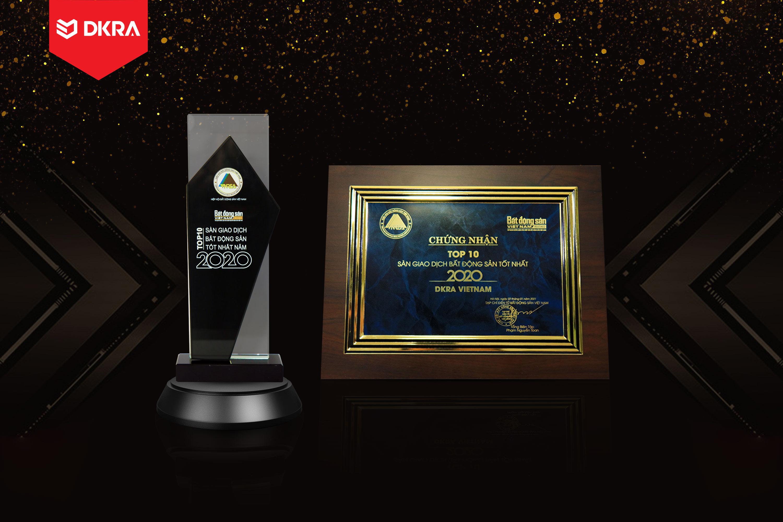 """DKRA Vietnam """"Top 10 sàn giao dịch Bất động sản tốt nhất"""" do Tạp chí điện tử Bất động sản Việt Nam (Reatimes) trao tặng năm 2019 và 2020"""